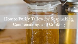 How to Render and Purify Tallow for Cooking, Coapmaking, or Candlemaking
