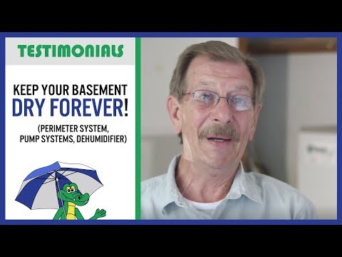 🐊 Wet Basement? Keep it Dry PERMANENTLY! - Dry Guys Testimonial