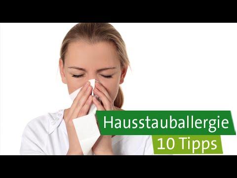 Hausstauballergie – 10 Tipps