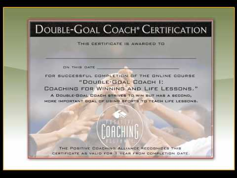 PCA's Double-Goal Coach Online Course Demo - YouTube