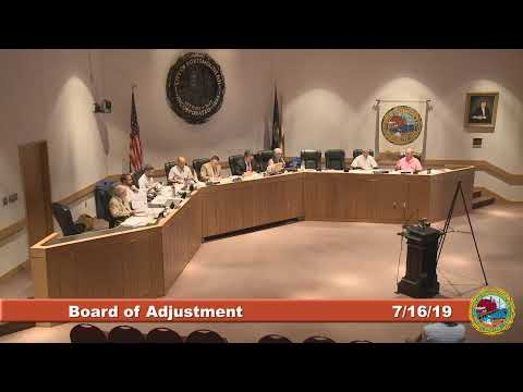 Board of Adjustment 7.16.2019