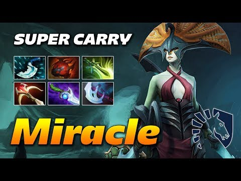 Miracle Naga Siren Super Carry | Dota 2 Pro Gameplay