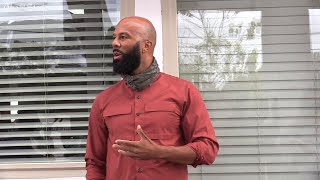 Rap artist Common supports S.C. Senate candidate Jaime Harrison at Columbia, SC campaign stop