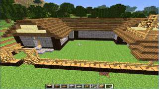 preview picture of video 'Minecraft Lets Build a Village-Part 13-The Dodgey balcony thingy'