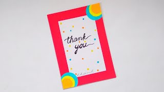 How to make : A Beautiful Thank You Card | Dinesh Arts