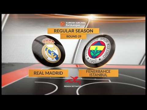 EuroLeague Highlights RS Round 29: Real Madrid 61-56 Fenerbahce Istanbul