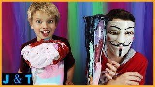 Hacking Our Sister JustJordan33 Surprise Mystery Slime Smoothie Challenge / Jake and Ty