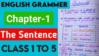 The sentence grammar chapter-1 with worksheet.