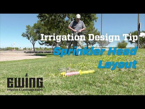 Irrigation Design Tip - Sprinkler Head Layout