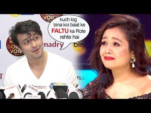 Sonu Nigam Makes FUN Of Neha Kakkar getting Emotional hearing Contestants story on Indian Idol 10