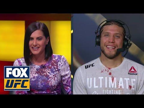 Brian Ortega Talks Cub Swanson Takedown Post-Fight   Interview   UFC FIGHT NIGHT