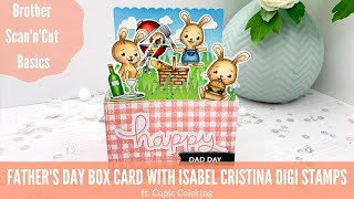 Happy Dad Day! | Interactive Box Card With Digi Stamps By Isabel Cristina
