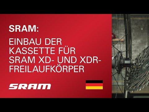 Einbau der Kassette für SRAM XD- und XDR-Freilaufkörper