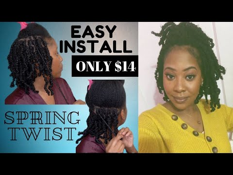 EASY SPRING TWIST INSTALL || Natural Hair