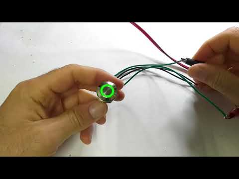 12V Momentary Metal Switch - Green Led Version