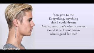 Justin Bieber - The Feeling ft Halsey (LYRICS)