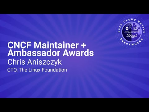 Image thumbnail for talk Keynote: CNCF Maintainer + Ambassador Awards