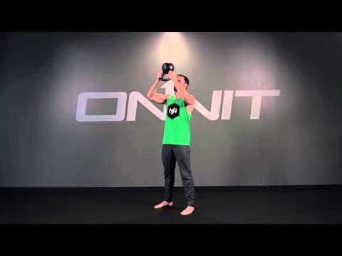 Two Hand Overhead Inverted Kettlebell Press