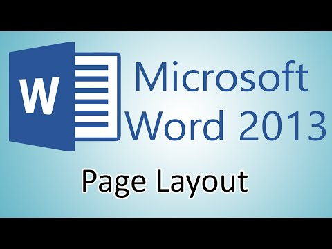 Microsoft Word 2013 Tutorials – Page Layout