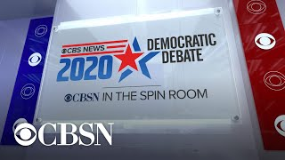 Democratic candidates reflect on debate performance in visit to CBS News