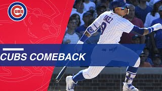 Cubs Come Back From 7 2 Deficit To Win 8 7 Vs. Reds