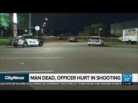 Man dead, officer hurt in Scarborough shooting