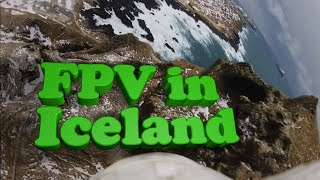 Crazy FPV flying in Iceland - Drone dodging cliffs flown with dragon link - Aerial Iceland