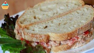 Бутерброды с консервированным тунцом и помидором - Видео онлайн