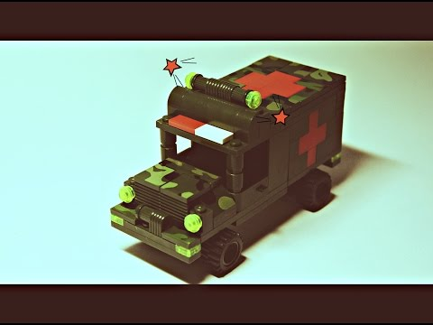 Сборка конструктора Brick Военная скорая помощь 0273