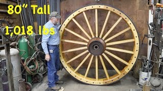 Building 1,018 lb Wagon Wheel For a Chandelier | Engels Coach Shop