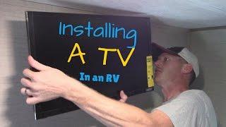 RV TV Install