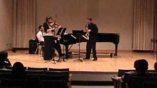 Trio For Viola, Alto Saxophone And Piano, Mvt. 2