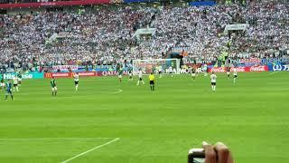 Así se vivió el pitazo final entre México vs Alemania en Rusia 2018