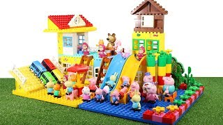 Lego Duplo House Construction Sets - Peppa Pig House With Water Slide Creations Toys For Kids #5