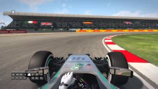 F1 2014 Silverstone Hot Lap Mercedes Benz  TT All Assist Off