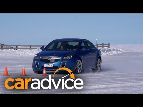 How does stability control work? ESC demonstration on ice with the Holden Insignia VXR