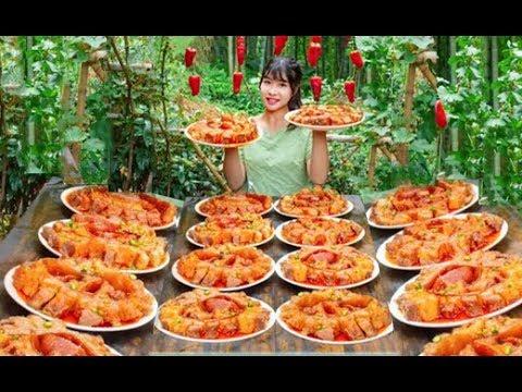 #大胃王#美食 全村第一吃貨消滅30斤盤龍五花肉!太香了