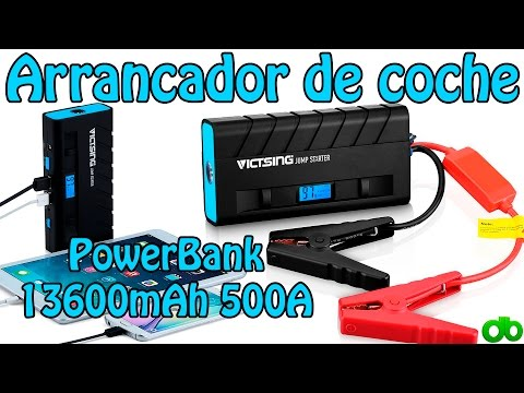 Powerbank Arrancador de coche y cargador de portátiles 13600mAh 500A Jump Starter VicTsing Review