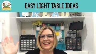 Easy Peasy Light Table Ideas For Preschool