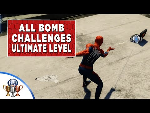 Spider-Man (PS4) All Bomb Challenges - Gold Ultimate Level Walkthrough