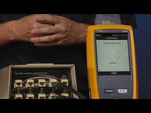 DSX 5000 CableAnalyzer™ Copper Cable Certifier  – Running a Test: By Fluke Networks
