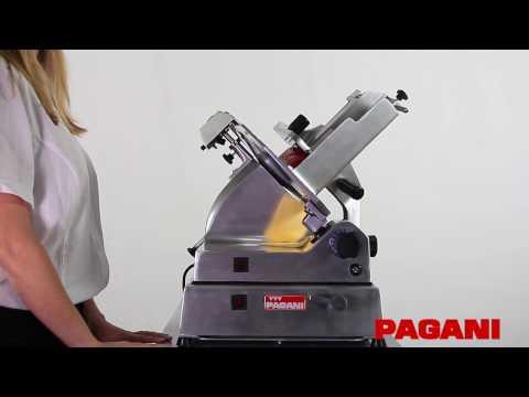 Máquina cortadora automática de fiambre Pagani. Modo de uso