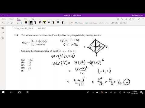 SOA Exam P Question 314 | Variance of multivariate uniform ...