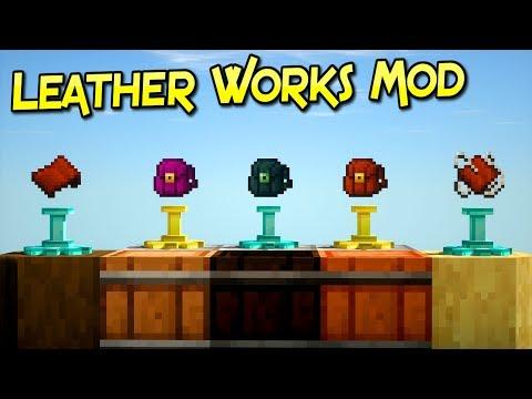 Leather Works Mod | Algo De Trabajo Extra Tiene Su Recompensa | Minecraft 1.12.2 | Review Español