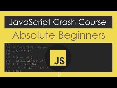 JavaScript Crash Course For Beginners