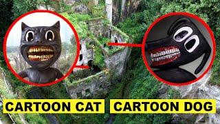 DROHNE erwischt CARTOON DOG & CARTOON CAT in VERLASSENEM WALD!! | KAMBERG TV