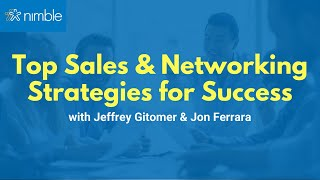 Top Sales Strategies for 2018 Success with Jeffrey Gitomer