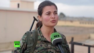 Курдские женщины сражаются против боевиков ИГ наравне с мужчинами