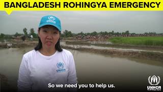 字幕付きロヒンギャ難民支援、現場からの声
