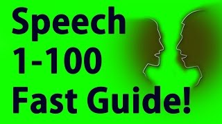 Skyrim Special Edition - 0 to 100 Speech In 5 minutes (See description for details)